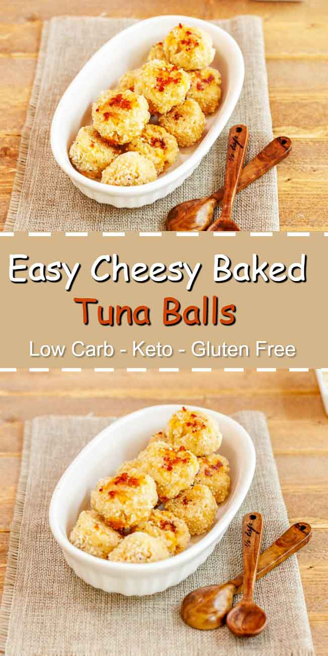 Easy Cheesy Baked Tuna Balls - Low carb, gluten free, and primal