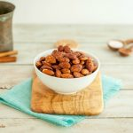 Cocoa Cinnamon Roasted Almonds- Paleo, low car, gluten free, and vegan