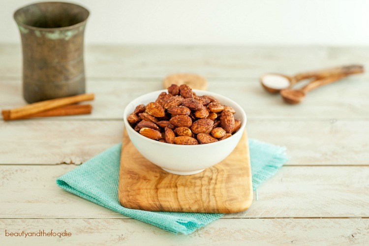 Cocoa Cinnamon Roasted Almonds- Paleo, low car, gluten free, and vegan