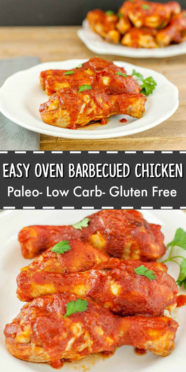 Easy Oven Barbecue Chicken - Low carb and Paleo. Simple and delicious!