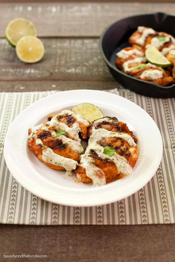 Chili Lime Cream Grilled Chicken - low carb, paleo and ha