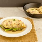 Malibu Dijon Chicken Asparagus Skillet- Low carb, gluten free, savory and tasty!