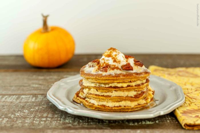 Pumpkin Cheesecake Pancakes, low carb and paleo