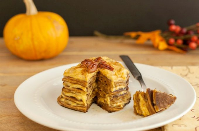 Pumpkin Cheesecake Pancakes- Low carb and Gluten Free