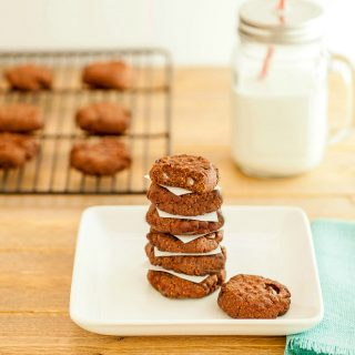 Double Chocolate Nut Butter Cookies Low Carb
