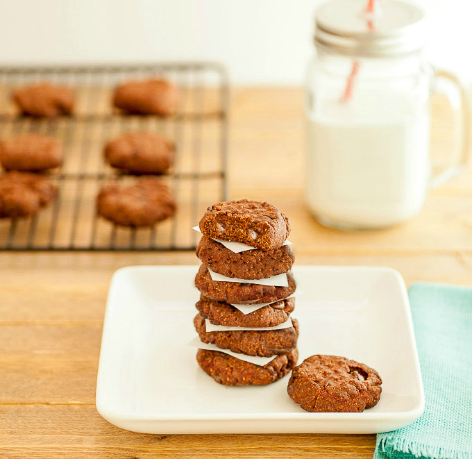 Double Chocolate Nut Butter Cookies -Low carb and paleo. Chocolate nut ...