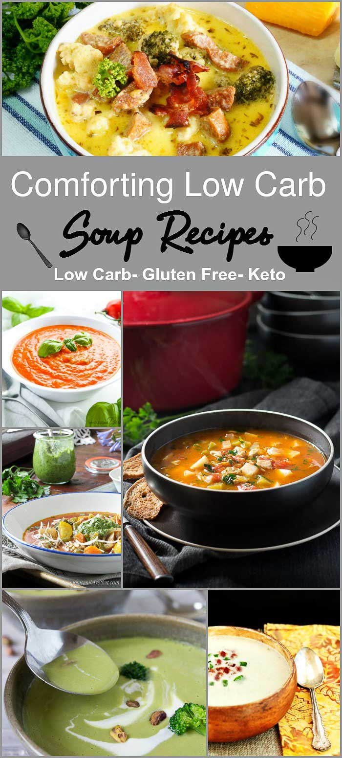 Comforting Low Carb Soup Recipes- Low Carb & Gluten Free