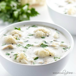 Low Carb Clam Chowder- Wholesome Yum