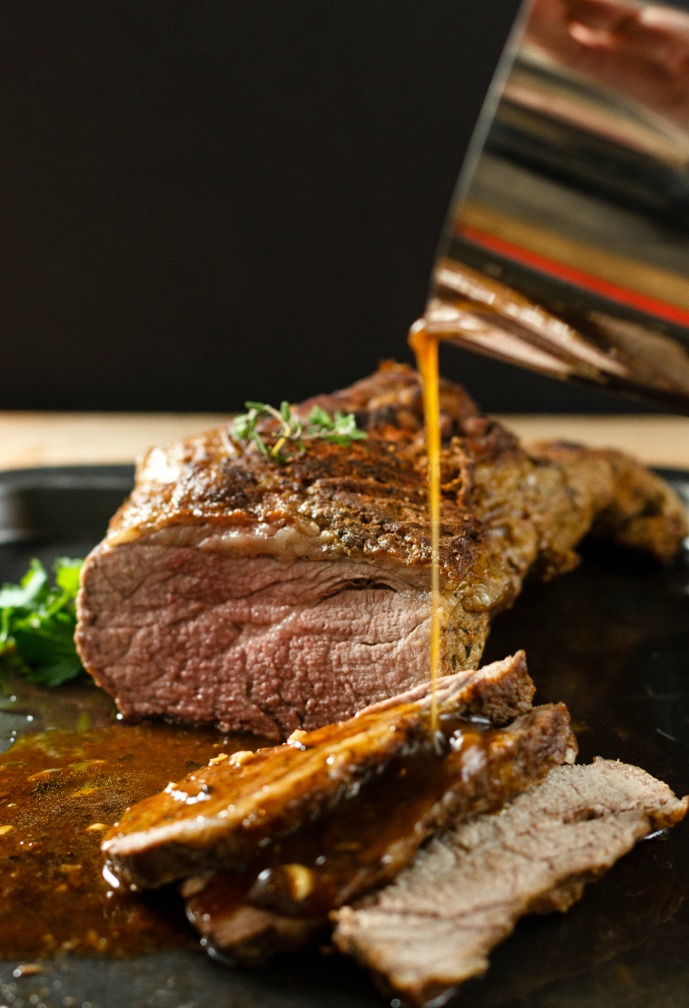 Easy One Pot Beef Roast with Wine Sauce- Low Carb Paleo and gluten free.