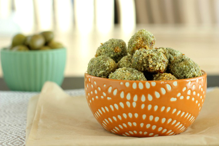 Oven Fried Stuffed Olives- Paleo, Low Carb & Gluten Free