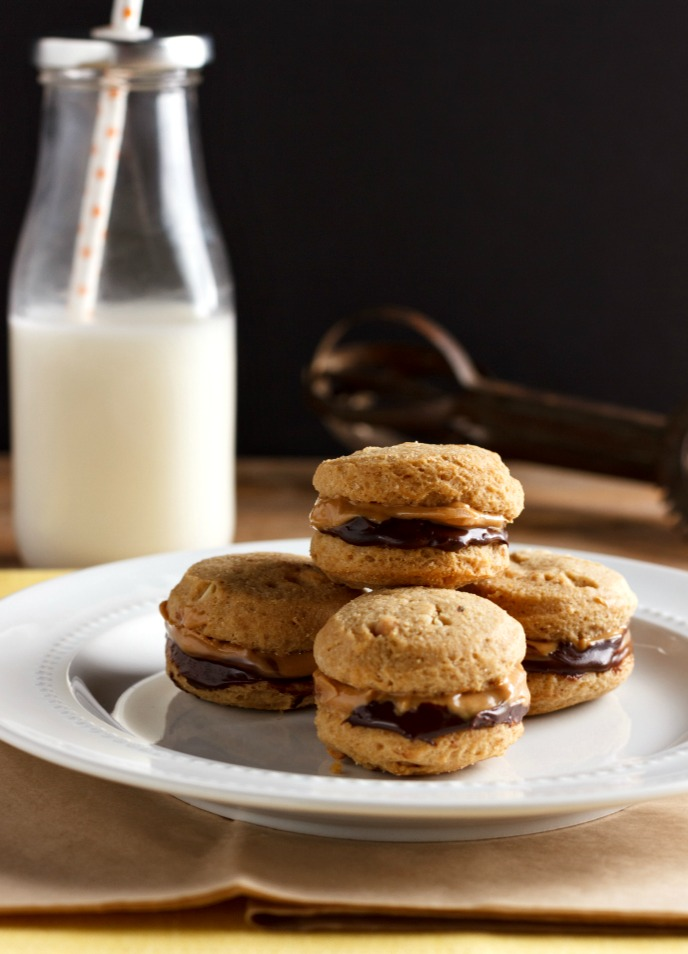 Chocolate Nut Butter Sandwich Cookies Low carb- Paleo & nut free option