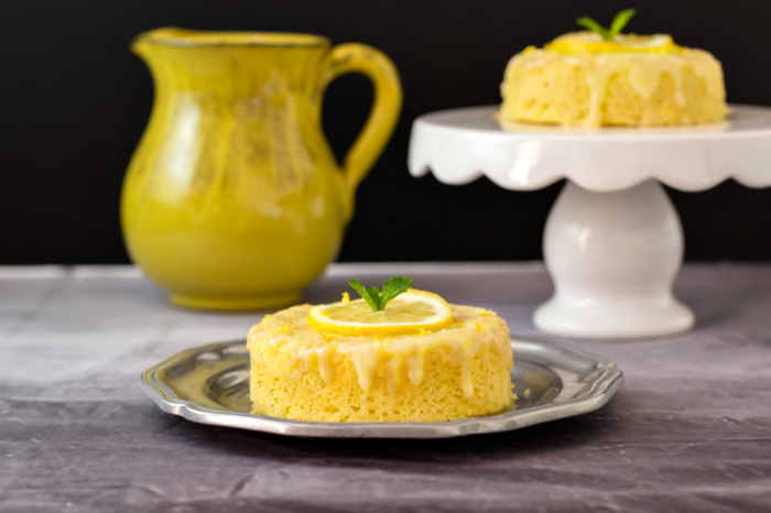 3 Minute Lemon Poke Cake Low Carb Beauty And The Foodie